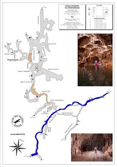 Topographie des grottes d'Anjohibe - Madagescar